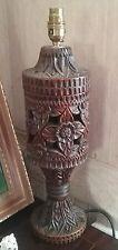 Hand  carved ornate   wooden  lamp  base