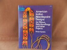 American Indian Needlepoint Designs for Pillows Belts Handbags & other Projects