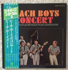 BEACH BOYS - CONCERT - WLP - PROMO-JAPAN-JAPANESE-OBI-RARE LP VINYL RECORD Obie