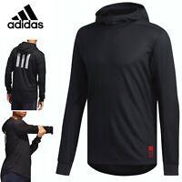 Adidas ADAPT Running Hoodie Men's Reflective Logo Knit Sweatshirt Black