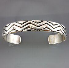 Sterling Silver Handcrafted Modern Cuff Bracelet Signed