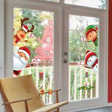 Christmas Snowman Snowflake Santa Wall Decal PVC Window Sticker Art Decorations