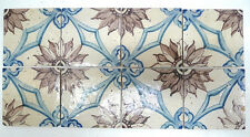 Portuguese Antique 8-Tile Floral Panel