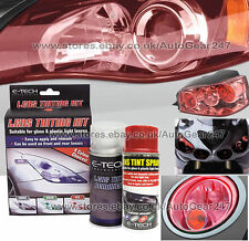 E-Tech Bike Car Glass Plastic Rear Tail Lamp Lens Red Tint Tinting Spray Kit