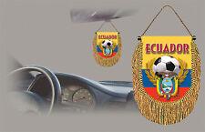 ECUADOR SOCCER FLAG CAR MINI BANNER, PENNANT
