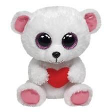 "Nwt Ty Beanie Boos 6"" Sweetly Polar Bear White Plush Valentine's Heart Boo 2013"