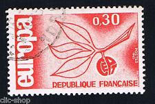 1 FRANCOBOLLO FRANCIA EUROPA CEPT ROSSO 1965 timbrato