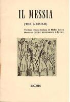Handel: Die Mesia (Fassung IN Italian) - Libretto Ricordi