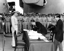 B&W Photo Japanese Surrender USS Missouri 1945 WWII WW2 World War Two Japan