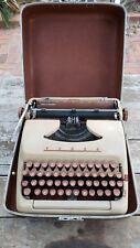 1958 Tower President Typewriter + Case + Brush. Mid century modern.