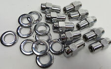 """10 Pack Cragar S/S chrome 7/16"""" RIGHT Hand thread Mag Wheel lug nuts & washers"""