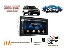 2004-2007 FORD ESCAPE HYBRID DOUBLE DIN CAR STEREO KIT, BLUETOOTH TOUCHSCREEN