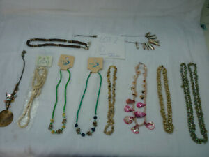 Job Lot 2 10 Shell Costume Jewellery Necklaces
