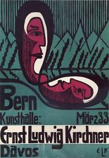 PLAKAT Bern Kunsthalle: Ernst-Ludwig Kirchner Expressionismus Brücke 227XL