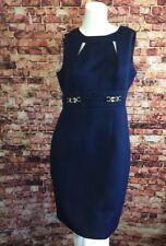 Tahari Arthur S. Levine Blue Textured Sheath Dress Size 6P