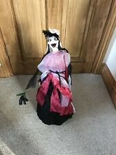 Halloween Support libre ombrelle Sorcière & squelette à 2 Faces Décoration