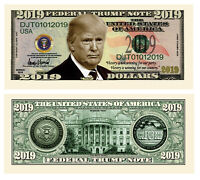 Pack of 25 - Donald Trump 2020 Re-Election Presidential Novelty Dollar Bill 2019