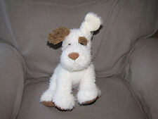 "Barnes & Noble Plush Terrier Dog ""Noble"" Stuffed Animal Cream Ivory White Brown"