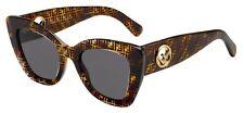 Fendi F IS FENDI FF 0327/S Havana/Grey (086/IR) Sunglasses