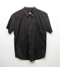 Mens Quicksilver Dark Grey Short Sleeve Button Front Shirt - 2XL
