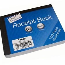 Duplicate RECEIPT BOOK Numbered Pages 1-100 + 2 SHEETS CARBON PAPER Receipt NEW