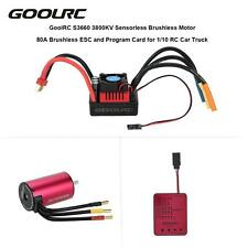 GoolRC S3660 Brushless Motor 80A Brushless ESC and Program Card Combo Set