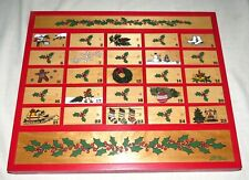 L.L Bean Wooden Christmas Holiday Advent Calendar 17 x 15 x 1.5 inches