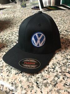 VW VOLKSWAGEN EMBROIDERY HAT FLEXFIT BLACK L/XL