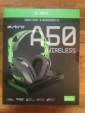 BRAND NEW ASTRO A50 Wireless Gaming Headset Xbox One & Windows 10 GREEN NIB HOT!