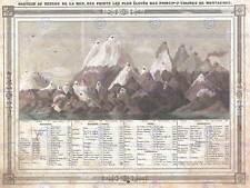 Géographie carte illustrée antique barbie bocage mountain poster print BB4267A