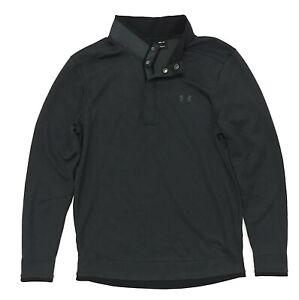Under Armour UA Storm Golf Sweater Fleece Snap Button Mock Neck 1/4 Pullover