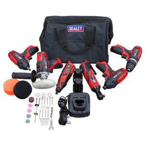 Sealey CP1200COMBO2  6 Piece 12v Cordless Power Tool Kit + 2 Batteries & Acce...