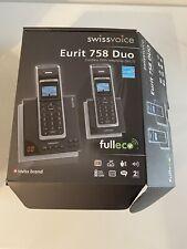 Swissvoice Eurit 758 Duo Schurloses DECT Telefon / 2 Geräte / ISDN