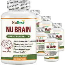 Pack of 6 NuBrain Support Brain Health & Cognitive Functions, Enhance Memory