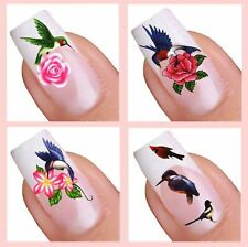 Water Decal Nail Art Sticker Set - Birds (036,049,048,075)