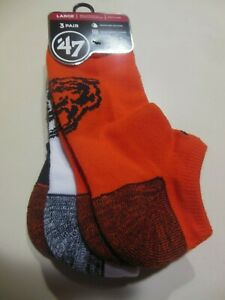 Chicago Bears NFL  Unisex  Brink Motion Low Cut Sock 3 Pack 'NEW' Size L