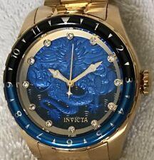 Invicta Speedway Dragon Automatic/Bracelet Watch/Light Blue & Gold