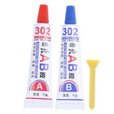 2pcs super forte résine époxy colle claire colle adhésive résine immédiate (A+B