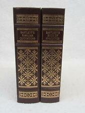 Lot of 2 BARTLETT'S ANECDOTES and QUOTATIONS Easton Press Leather Collector's