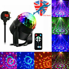 Disco Ball Lights Crystal Strobe Lamp with Remote Sound Activated 7 Modes RGB