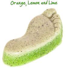 Orange, Lemon & Lime Pumice Foot Scrub Soap Bar Vegan SLS Paraben & Cruelty Free