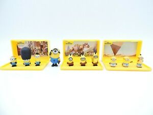 Micro MINIONS Playset LOT of 3 British EGYPTIAN Cro-Minions figures Thinkway Toy
