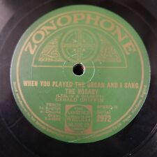 78 rpm GERALD GRIFFIN when you played the organ / old names of old flames