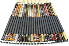"SET OF 25 POOL CUES New 58"" Canadian Maple Billiard Pool Cue Stick PLUS SHIPPING"