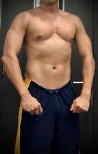 Preowned Mens Muscle Fitted Under Armour UA Navy Blue Sweat Gym Shorts M NR