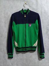 Fila Vintage 70s Bjorn Borg Era Green Track Tennis Jacket Fits S/XS
