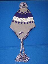 NBA Charlotte Hornets Buzz City Gray Purple Winter Knit Hat Cap Tie Beanie Yarn