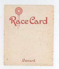 1920s CUNARD LINE RMS Scythia RACE CARD Horse Racing CRUISE SHIP Liner GAMBLING