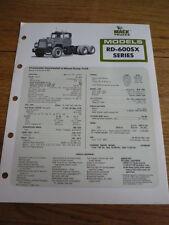 MACK RD 600SX  TRUCK, LORRY, COMMERCIAL BROCHURE jm