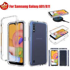 For Samsung Galaxy A01/A11 Full-Body Hybrid Shockproof Bumper Crystal Case Cover